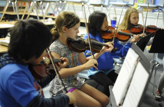 Elemental Strings and Band inspires young musicians to develop their musical and personal skills through weekly orchestral and band experiences.