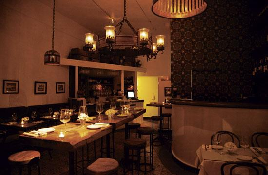Manchego has charm with intimate seating and candle lit tables in the main dining room.