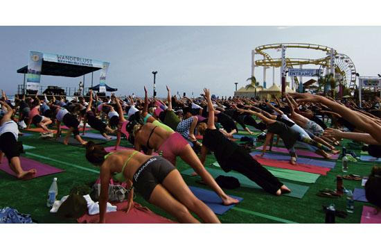 The 4th annual Wanderlust Yoga in the City series comes to Santa Monica this Saturday.