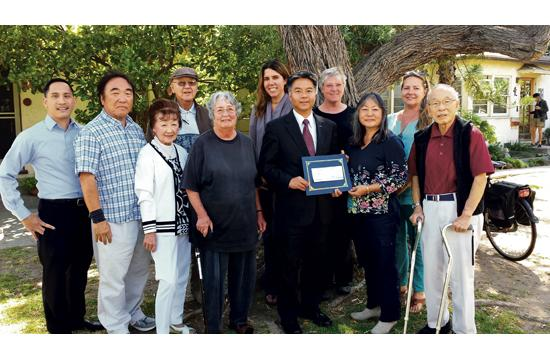 State Sen. Ted Lieu with members of VJAMM. Lieu presented a check for $5