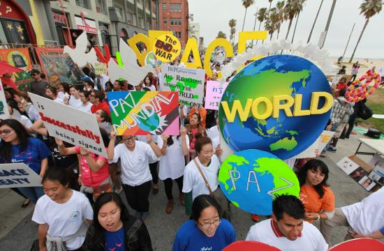 A peace walk was held Saturday in Venice Beach in response to the shootings in Santa Barbara