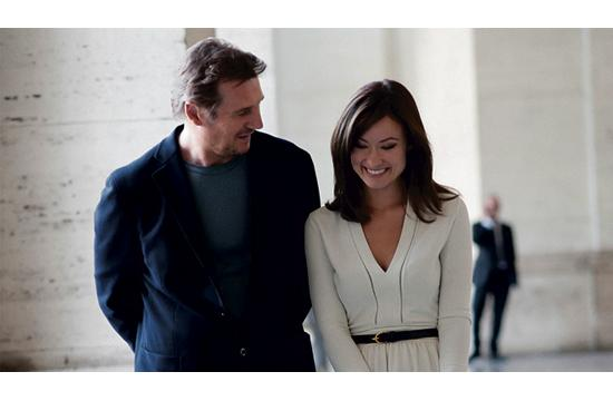 "Liam Neeson as Michael and Olivia Wilde as Anna in ""Third Person"