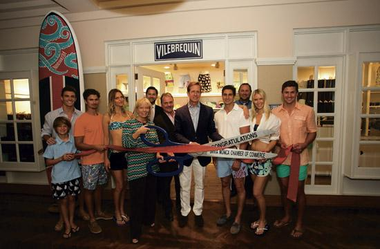 A launch party was held May 29 for the Fairmont Miramar's new Vilebrequin-themed amenities and activities for the summer.