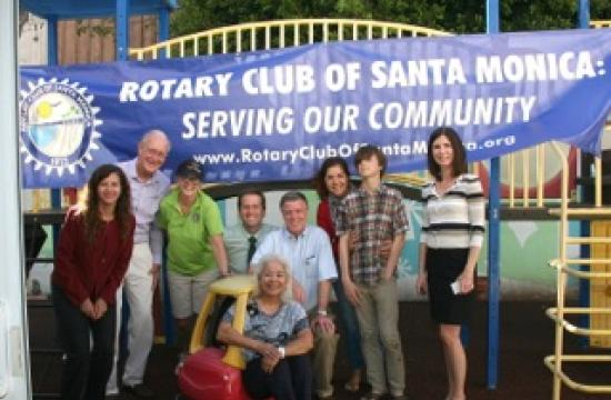 Rotary Club of Santa Monica members gathered at Upward Bound House on Friday