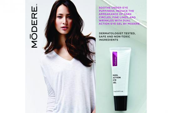 Use promo code BEAUTY at checkout at modere.com when you purchase Anti-Aging Serum and receive Dual Action Eye Gel for free