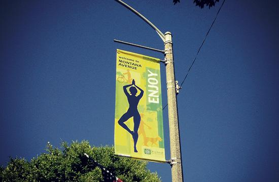 The Montana Avenue Merchants Association has hung new banners that promote all that is special about Montana Avenue.
