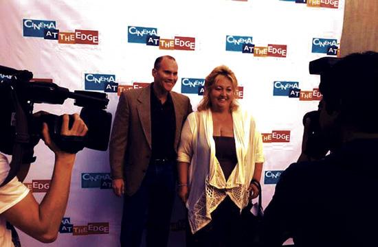Cinema at the Edge founder Michelle Danner and festival creative director Brian Drillinger at the inaugural event in 2013.