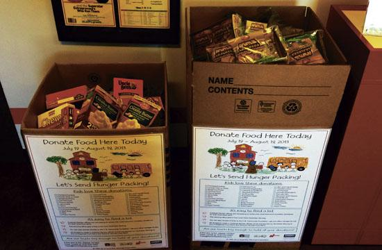 Donate food items through Aug. 15 to help prevent childhood hunger.