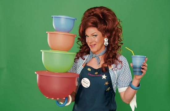 "Dixie Longate is the star of the most entertaining one-woman show ""Dixie's Tupperware Party"" on stage at the Audrey Skirball Kenis Theater at the Geffen Playhouse."