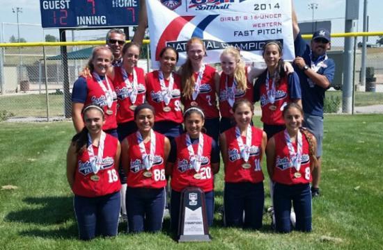The 16U Santa Monica Patriots (pictured left to right