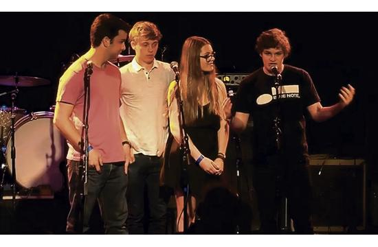 Four teenage musicians from Crossroads School in Santa Monica are helping save financially impacted music and education programs through their organization called Teens United Live.