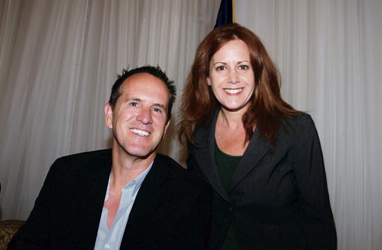 GoCoin CEO Steve Beauregard and Rotary club member Jillian Alexander.