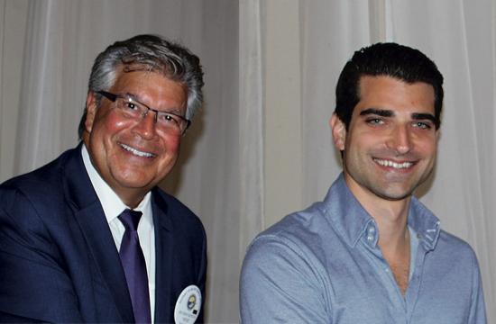 Rotary Club of Santa Monica members Rick Mateus (left) and Eric London.