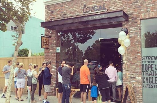 The Grand Opening Party is under way at Lo/Cal Coffee and Market in Santa Monica.