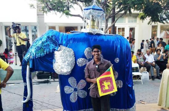 Marlon De Silva at Sri Lanka Day on Saturday on the Third Street Promenade.