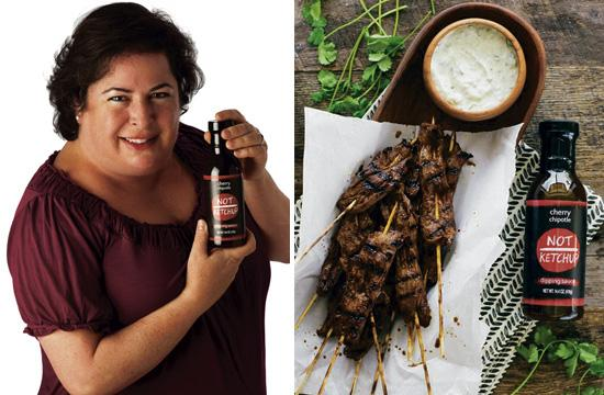 """Santa Monica mom Erika Kerekes developed a line of """"Not Ketchup"""" sauces after going on a cherry picking pilgrimage to Leona Valley."""