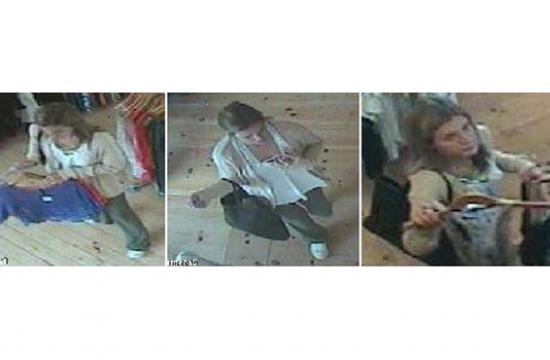 Images from surveillance footage of a suspected Malibu shoplifting suspect.