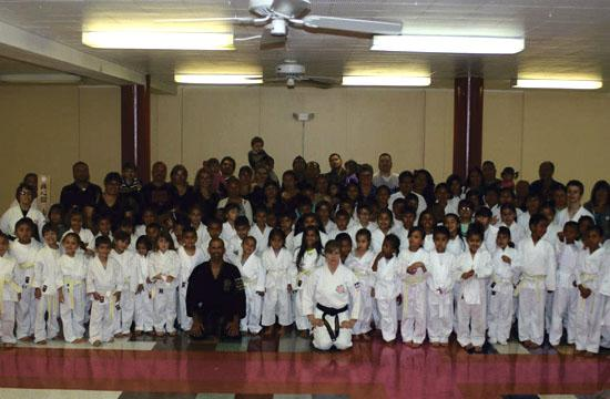 South Central youth with their sensei William Candelario of Renshinkan Foundation of California who has been teaching free classes for the past five years.