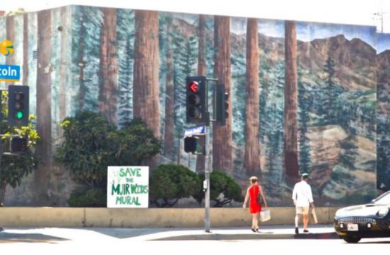 A 'Save the Muir Woods Mural' public support demonstration will take place for the mural today.