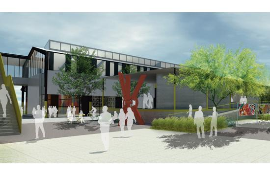 A rendering of Worthe Real Estate Group's proposal for the future development of Bergamot Station Arts Center. Joe Coriaty of Frederick Fisher and Partners
