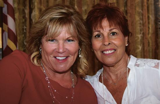 Pacific Park CEO/General Manager Mary Ann Powell was guest speaker last Friday (left). She is pictured with program chair Tish Tisherman.