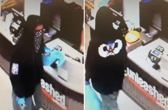 Surveillance footage of the masked Culver City gunman.