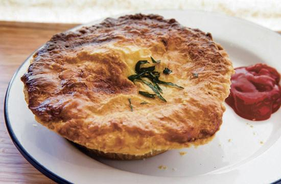 One of the Aussie meat pies.