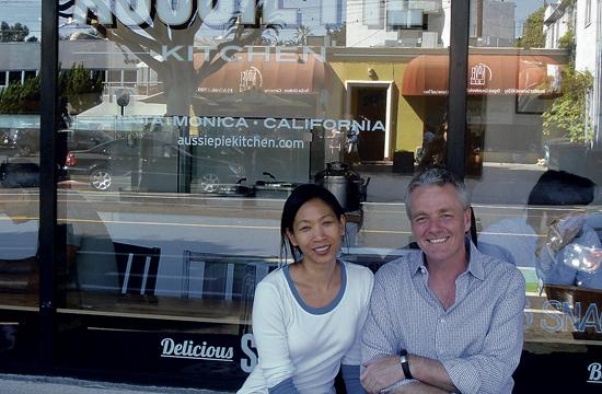 Aussie Pie Kitchen owners Nick Bishop and Geri Chua have opened up shop at 2510 Main Street in Santa Monica.