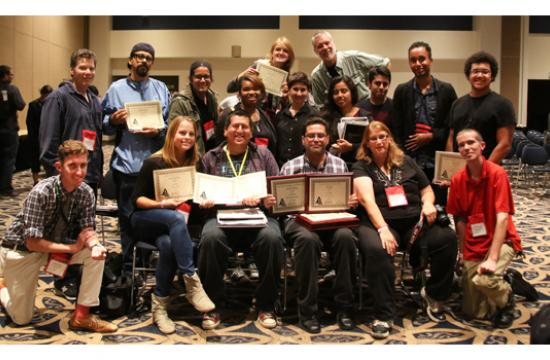 Santa Monica College student newspaper 'The Corsair' award winners at the 2014 Southern California convention of the Journalism Association of Community Colleges.
