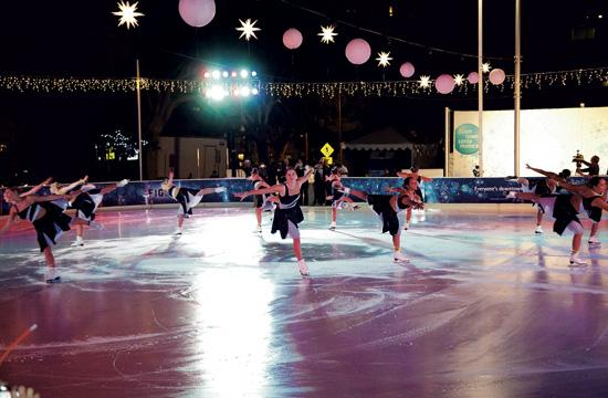 The ICE at Santa Monica skating rink opens this Saturday. A grand opening celebration will be held Thursday