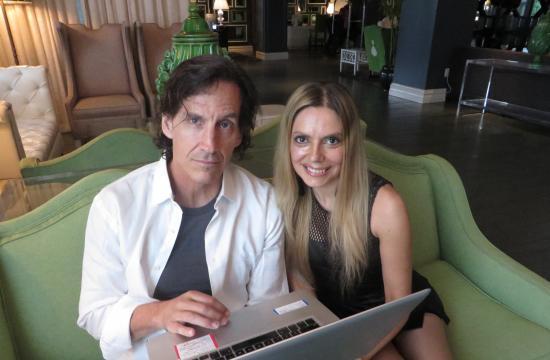 Director Kevin Donovan and Santa Monica actress Marie Paquim.