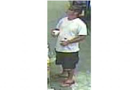 Surveillance footage of the suspect.