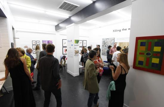 The opening reception for 'Filling the wHole' raised $9