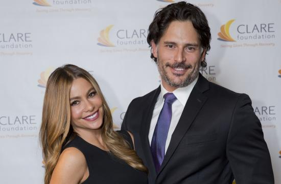 Sofia Vergara and CLARE Tribute Award honoree Joe Manganiello.