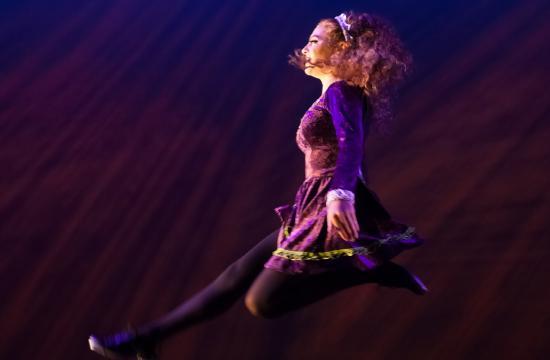 Dancer Natalie Serguian performs with SMC's Global Motion World Dance Company.