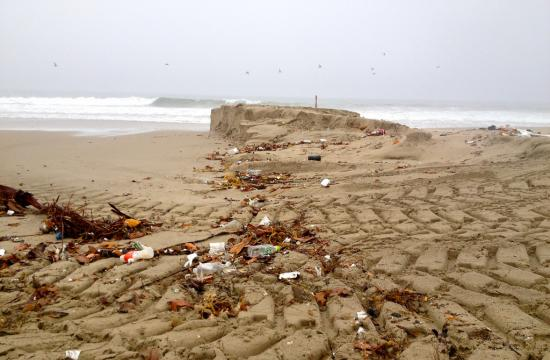The Pico/Kenter storm drain at Santa Monica Beach.