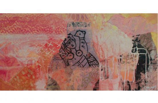Reine du Desert 2005 31.5 in. x 16 in. Acrylic