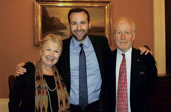 Ben Allen with his parents Elena and Michael Allen at the State Capitol in Sacramento on Monday after his swearing-in ceremony to the state Senate.