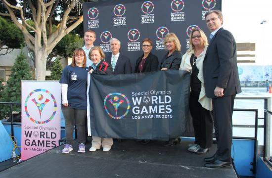 Local leaders and representatives from Special Olympics World Games Los Angeles were on hand Thursday afternoon for the announcement that Santa Monica would act as a Host Town for about 100 athletes in July 2015.