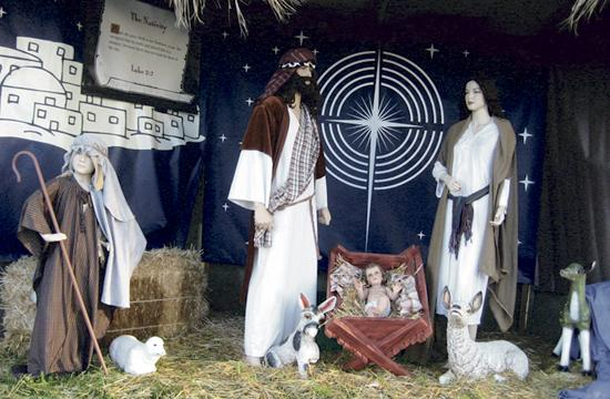 One of the 13 Nativity Scenes that will be displayed at Mount Olive Lutheran Church for the second year in a row starting Sunday.