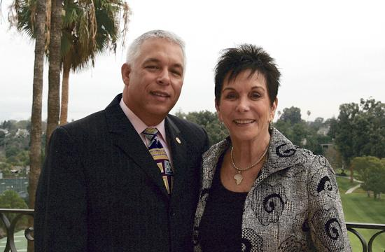 Santa Monica Rotary VP Programs Len Lanzi and Rotarians for Family Health and AIDS Prevention