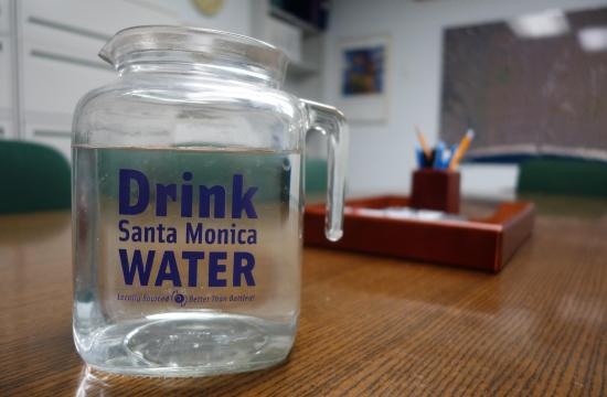 Santa Monica city water is now used at all city functions.