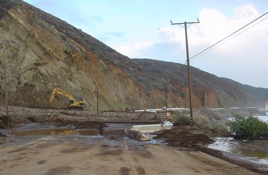 Caltrans says last week's heavy rains caused 12 to 15 mud