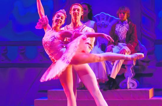 "Kaylene Garcia as Sugarplum Fairy and her Cavalier (Evan Swenson) from Westside Ballet of Santa Monica's ""Nutcracker."""