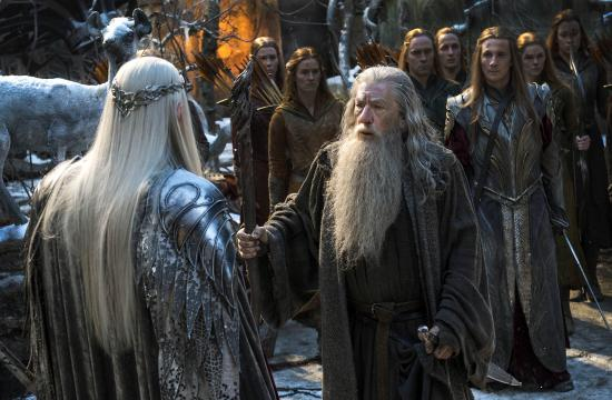 'The Hobbit: The Battle Of Five Armies' topped the weekend box office with $56.2 million in estimated ticket sales.