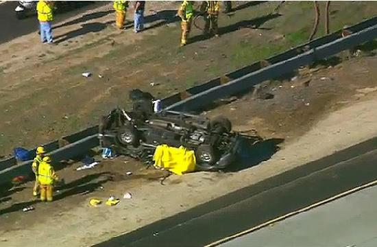 Authorities have identified the three people killed in a SUV crash on Friday on the 15 Freeway