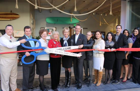 A ribbon cutting ceremony was held Tuesday for the new Concierge Lounge at Santa Monica Place.