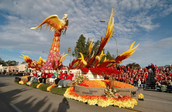 The Rose Parade in Pasadena is a festival of flower-covered floats