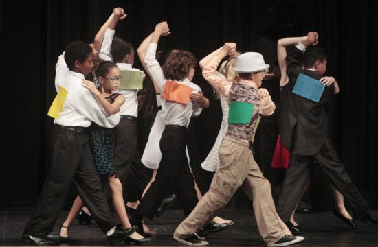 Fifth-grade students from each of the 11 Santa Monica-Malibu elementary schools danced the tango