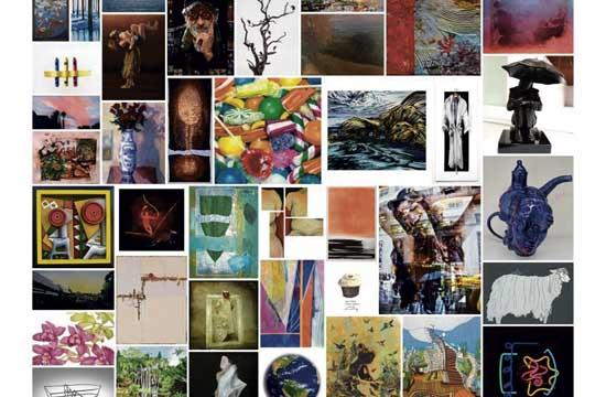 A snapshot of some of the TAG Gallery art works on display from the gallery's 42 artists.